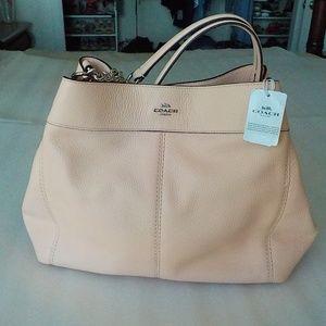 Coach Light Pink Pebble Leather Shoulder Bag NWT